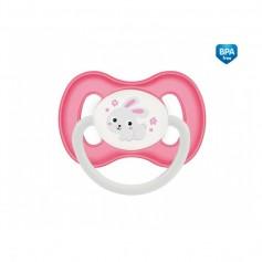 Canpol babies Dudlík kaučukový třešinka 0-6m BUNNY & COMPANY růžový