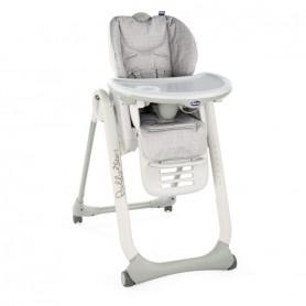 Chicco Jídelní židlička Polly 2 Start Happy Silver