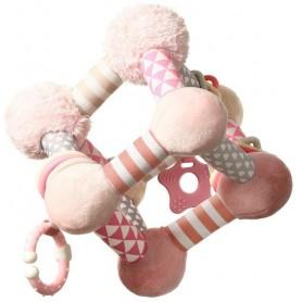 BabyOno Edukační plyšová hračka CUBE - růžová