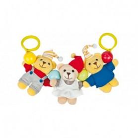Canpol babies Chrastítko do kočárku plyšové Teddy bears new