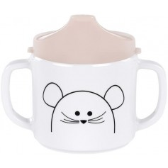 Lässig Cup with Silicone Little Chums mouse
