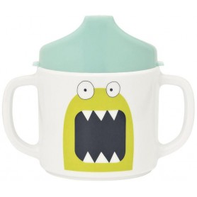 Cup with Silicone Little Monsters bouncing bob