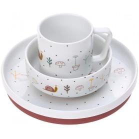 Dish Set Porcelain Garden Explorer girls