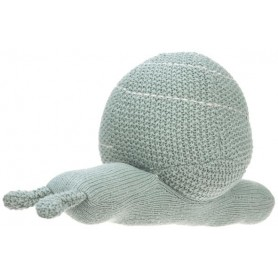 Knitted Toy with Rattle Garden Explorer snail green