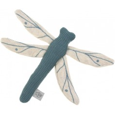 Knitted Toy with Rattle/Crackle Garden Explorer Dragonfly blue