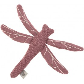 Knitted Toy with Rattle/Crackle Garden Explorer Dragonfly red