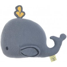 Knitted Toy with Rattle/Crackle Little Water whale