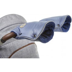 rukavice na kočár Mazlík ocelově modrá/modrá