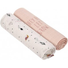 Swaddle Heav. Soft 120x120 Gard. Explo. girls