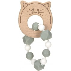 Teether Bracelet Wood/Silicone Little Chums cat