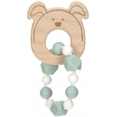 Teether Bracelet Wood/Silicone Little Chums dog