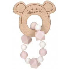 Teether Bracelet Wood/Silicone Little Chums mouse