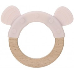 Teether Ring Wood/Silicone Little Chums mouse