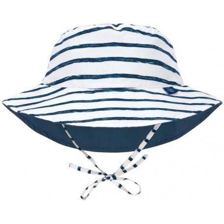 Sun Bucket Hat stripes navy 09-12 mo.