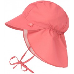 Sun Flap Hat coral 09-12 mo.