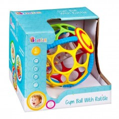 BamBam gumová koule s chrastítkem