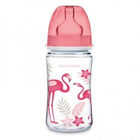 Canpol babies láhev se širokým hrdlem JUNGLE 120 ml růžová
