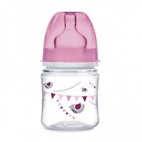 Canpol babies láhev se širokým hrdlem PARTY 120 ml růžová