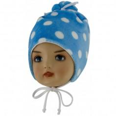 ESITO Dětská zimní čepice Puntík - modrá