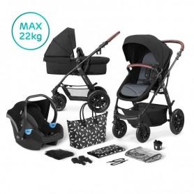Kočárek kombinovaný 3v1 XMOOV Black Kinderkraft 2020
