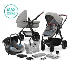 Kočárek kombinovaný 3v1 XMOOV Grey Kinderkraft 2020