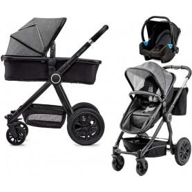 Kočárek kombinovaný Veo black/grey 3v1 Kinderkraft 2019