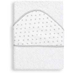 Interbaby OSUŠKA froté 100x100 HVĚZDA - bílo-šedá