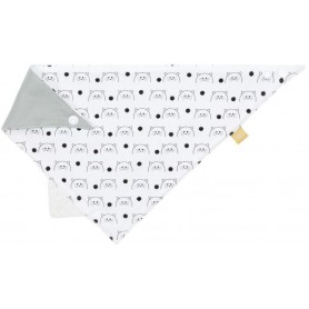 Interlock Bandana with silicone teether Little Chums cat