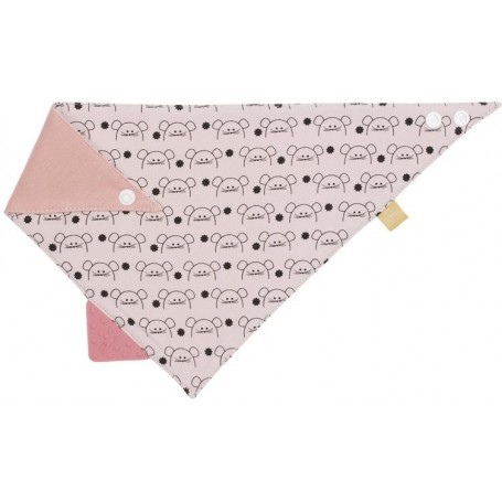 Interlock Bandana with silicone teether Little Chums mouse