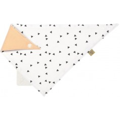 Interlock Bandana with silicone teether Little Spookies peach