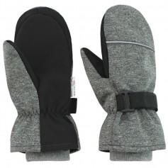 ESITO Dětské zimní rukavice Softshell, vel. 1-2 roky šedá melír