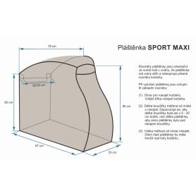 Emitex pláštěnka SPORT MAXI - černá