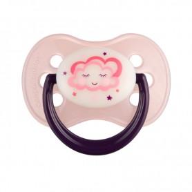 Canpol babies dudlík kaučukový třešinka 0-6m NIGHT DREAMS růžový