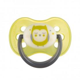 Canpol babies dudlík kaučukový třešinka 0-6m NIGHT DREAMS žlutý