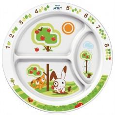 AVENT talíř s rozdělenými části, 12m+