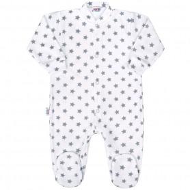 New Baby kojenecký overal CLASSIC II šedý s hvězdičkami