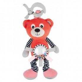 Canpol babies Plyšová vibrující hračka s chrastítkem MEDVÍDCI červená