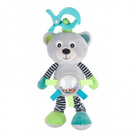 Canpol babies Plyšová vibrující hračka s chrastítkem MEDVÍDCI šedá
