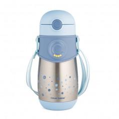 Canpol babies Termolahev se silikonovou slámkou 300ml modrá