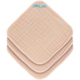 Muslin Washcloth Set 3 pcs light pink
