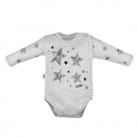 New Baby Kojenecké body s bočním zapínáním STARS