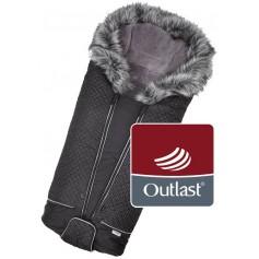 fusak DeLuxe Outlast černá/stříbrný prošev/šedá