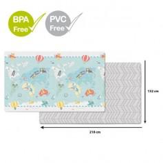 SKIP HOP Podložka na hraní bez PVC a BPA 218 x 132 cm, Malý cestovatel 0 m+