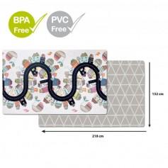 SKIP HOP Podložka na hraní bez PVC a BPA 218 x 132 cm, Vibrant Village 0 m+