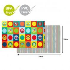 SKIP HOP Podložka na hraní bez PVC a BPA 218 x 132 cm, ZOO 0 m+