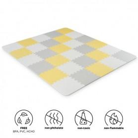 KINDERKRAFT Podložka pěnové puzzle Luno Yellow 30 ks