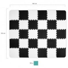 KINDERKRAFT Podložka pěnové puzzle Luno Black 30 ks