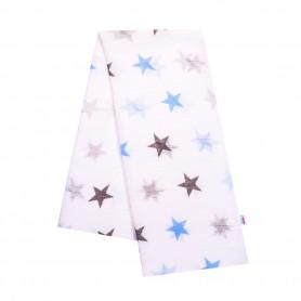 New Baby bavlněná plena s potiskem bílá s modrými hvězdami