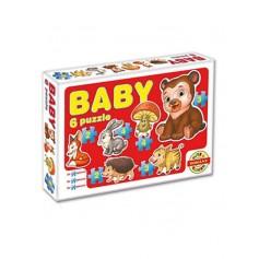 Dohany dětské baby puzzle - lesní zvířátka