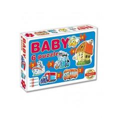 Dohany dětské baby puzzle - dopravní prostředky